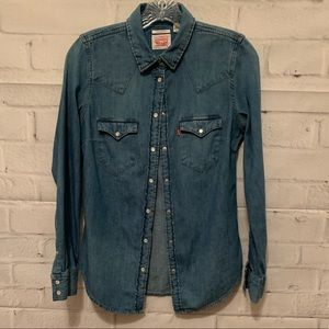 Levi button up pearl snap